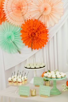 colorful dessert table backdrop // photo by Chris + Jenn Photography // styling by Styling Starts Here // view more: http://ruffledblog.com/romantic-agoura-hills-wedding
