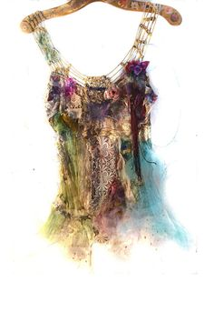 Unique Beautiful  Art to Wear Top LACES Boho Ghotic Hippie Twenties Romantic Edvardian Gipsy