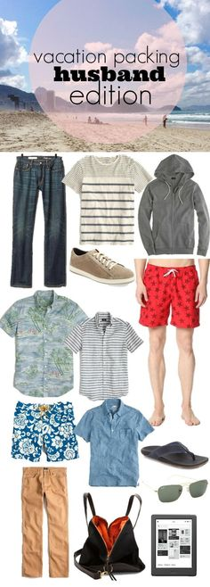 Travel Packing for Guys ⋆ what to pack for men for a beach vacation.