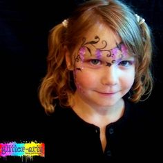 Flowers face painting by Glitter-Arty Face Painting - professional face painting entertainment for events, Bedford, Bedfordshire