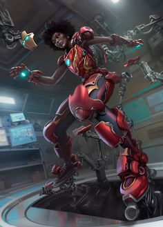 I'm very much a fan of Marvel's movie universe and I hope to one day see Riri Williams in the movies. Marvel Comic Universe, Marvel Art, Marvel Dc Comics, Marvel Heroes, Black Characters, Marvel Characters, Marvel Movies, Spider Verse, Iron Heart Marvel