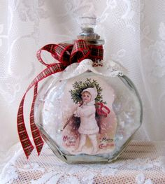 Handmade Christmas Decor from an Upcycled Bottle - Reader Feature - The Graphics Fairy