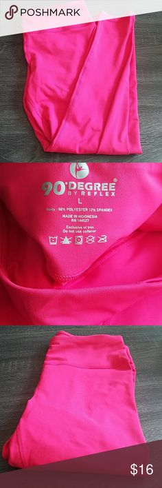 Hot Pink Leggings Wore once, no pilling. 90 Degree By Reflex Pants Leggings