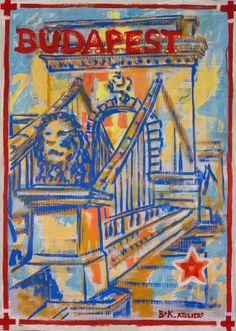 "Saatchi Art Artist Borai Kahne Ateliers; Painting, ""European Capital Cities - Budapest"" #art"