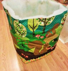 washing basket michael miller squirrel tutorial sewing bee fabrics fixing wadding