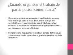 Participacion comunitaria Words, Plan De Travail, Youth Groups, Social Media, Health Professional, Horse