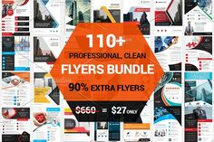 110+ Clean Business Flyers Bundle by Imagine Design Studio on @creativemarket