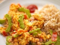 Bitter Melon Scrambled Eggs – A Healthy Way to Start the Day // wishfulchef.com Healthy Dishes, Healthy Cooking, Healthy Eating, Healthy Recipes, Healthy Food, Egg Recipes, Asian Recipes, Cooking Recipes, Ethnic Recipes
