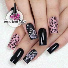 Nail Polish Art, Acrylic Nail Art, Acrylic Nail Designs, Nail Art Designs, Classy Nails, Fancy Nails, Trendy Nails, Cute Nails, Elegant Nail Art
