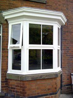 Front Door Porch, House Front, Front Doors, Wooden Windows, Windows And Doors, Bay Windows, Bay Window Design, Victorian Windows, Window Bars