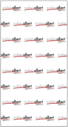 Sydney Albert Salon and Spa Step and Repeat Banner 16778 | www.sign11.com