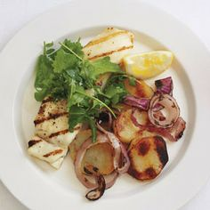 Grilled Halibut With Salt-and-Vinegar Potatoes! #halibut #grilled #potatoes