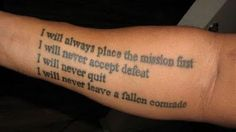 Military Tattoos Designs And Ideas : Page 96 Us Army Tattoos, Military Tattoos, Tattoos For Guys, Cool Tattoos, Army Quotes, Military Quotes, Military Love, Military Art, Time Tattoos