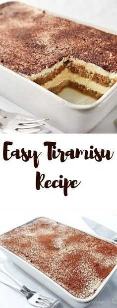 Easy Tiramisu Recipe - easy no-bake tiramisu recipe - You can find Italian desserts and more on our website.Easy Tiramisu Recipe - easy no-bake tiramisu recipe - No Bake Tiramisu Recipe, Tiramisu Recipe Without Eggs, Tiramisu Cake, Tiramisu Recipe Without Ladyfingers, Healthy Tiramisu Recipe, Tiramisu Vegan, Healthy Recipes, Tiramisu Cookies, Chocolate Tiramisu