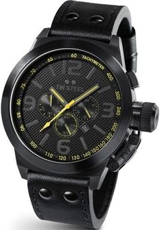 23b474a44b20 Amazon.com  TW Steel Men s TW901 Canteen Black Leather Strap Watch  TW Steel   Watches