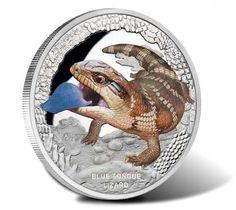 2015 $1 Blue Tongue Lizard 1 Oz Silver Proof Coin