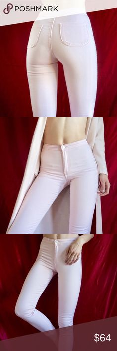 bcebe1e241 American Apparel pale pink easy jeans Pale pink American Apparel easy jeans.  Perfect high waisted