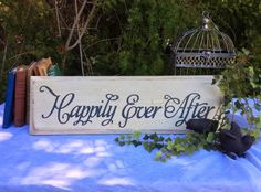 """Rustic, Vintage, Wood """"Happily Ever After"""" Sign by UpcycledBlessings on Etsy https://www.etsy.com/listing/229339689/rustic-vintage-wood-happily-ever-after"""