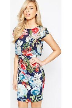 Geprinte jurken - Kylie Dress with Overlay Floral Top