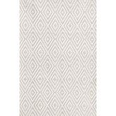 Found it at AllModern - Diamond Taupe & White Indoor/Outdoor Area Rug