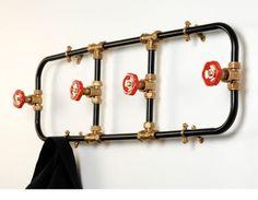 Eco design: appendiabiti da vecchie tubazioni, eco arredamento fai da te | BCasa