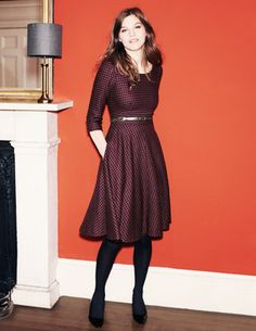 swinging a-line dress KATE #dots by Boden
