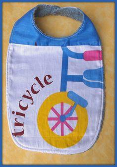 Bavoir en tissu coton motif vélo tissu éponge : Mode Bébé par orkan28