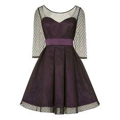 Lindy Bop Swing Serephina prom jurk met polkadot stippen violet - Vint