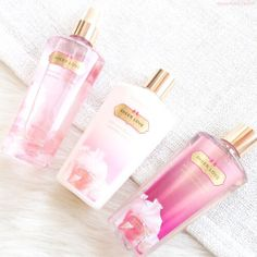 Victoria secret body slashes perfumes and lotions Victoria Secret Fragrances, Victoria Secret Perfume, Victoria Secret Body Spray, Diy Beauté, Victoria's Secret, Chanel Perfume, Essential Oil Perfume, Smell Good, Fragrance Oil