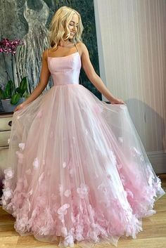 Pink tulle applique long prom dress, pink tulle evening dress,school event dress,evening dress · Grace Girls Dress · Online Store Powered by Storenvy Prom Dress Green, Prom Dresses Long Pink, Pink Evening Dress, Pretty Prom Dresses, Straps Prom Dresses, Formal Evening Dresses, Homecoming Dresses, Maxi Dresses, Elegant Dresses