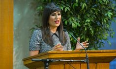 Naghmeh Abedini addressed Samaritan's Purse staff today in Boone, N.C., and asked for continued prayer for persecuted believers, including her husband Pastor Saeed.
