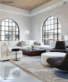 love the windows in this loft