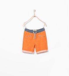 Image 1 of Zip sweatpant shorts from Zara