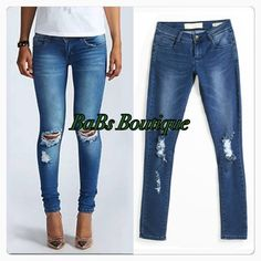 Denim Destroyed Jeans Denim Destroyed Jeans- NWT- equivalent to a size 8us on IG @babsboutique_ Pants