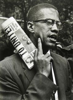 Malcolm X, born Malcolm Little and also known as El-Hajj Malik El-Shabazz, was an African-American Muslim minister and human rights activist. Malcolm X, Vivian Maier, André Kertesz, Black Leaders, Black Civil Rights Leaders, Berenice Abbott, Human Rights Activists, By Any Means Necessary, Black History Facts
