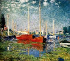 Claude Monet (1840-1926)  The Red Boats, Argenteuil  Oil on canvas  1872