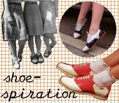 diy saddle shoes a la Audrey Horne.  i love doing this with five dollar white walmart sneakers.
