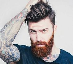 Cute short and full beard styles for men are changing rapidly and gaining lot of importance in the male society. Full beard style is the most popular trend Beard Styles For Men, Hair And Beard Styles, Long Hair Styles, Mens Hair With Beard, Mens Hairstyles With Beard, Red Beard, Full Beard, Ginger Beard, Epic Beard