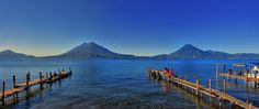 view from San Pedro la Laguna docks in Lake Atitlan Guatemala Atitlan Guatemala, Lake Atitlan, Boat Tours, Central America, Places To Go, Scenery, Around The Worlds, Adventure, Travel