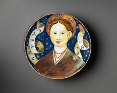 Signature: On back in luster: 1538 N (date and mark for lusterer, possibly Vincenzo Andreoli)Inscription: Inscribed on scroll: CASANDRA BELL[A] [trans. Italian Home, Glazes For Pottery, Toscana, 16th Century, Metropolitan Museum, Luster, Renaissance, Illustration, Shallow