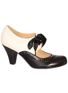 Soda Shop Maryjane Saddle Shoes $64.00 AT vintagedancer.com