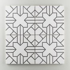 The Moroccan Handpainted Collection: Kasbah Trellis in the Neutral Motif.  Designed to create a bold flooring statement or seductive feature wall, this confident classic pattern begs to be installed just about anywhere. Available in a 8x8 size. $30/piece.