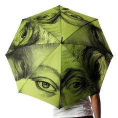 Eye Umbrella Olive by Mathew Bird for Kikkerland #Umbrella #Eye