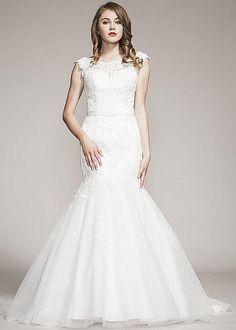 Tilda Strapless Wedding Dress Fishtail Wedding Dress Lace Wedding Dress Ivory Wedding Dress