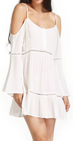 Boho cold shoulder dress
