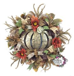 christmas deco mesh wreaths for 2015 | Deco Mesh Fall Burlap Wreath with It's Fall Play Ball Sign