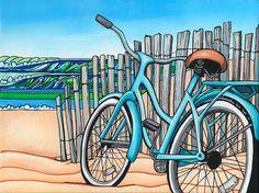 Beach Cruier Original Art  Print by MelissaHoodPaintings on Etsy