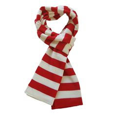 TrendsBlue Soft Knit Striped Scarf - Red & White at Amazon Women's Clothing store: Fashion Scarves