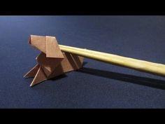 簡単な折り紙の折り方ビーグル犬の作り方 箸袋で創作 Origami beagle dogs - YouTube