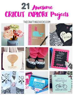 21 Awesome Cricut Explore Project ideas on http://www.thecraftingchicks.com